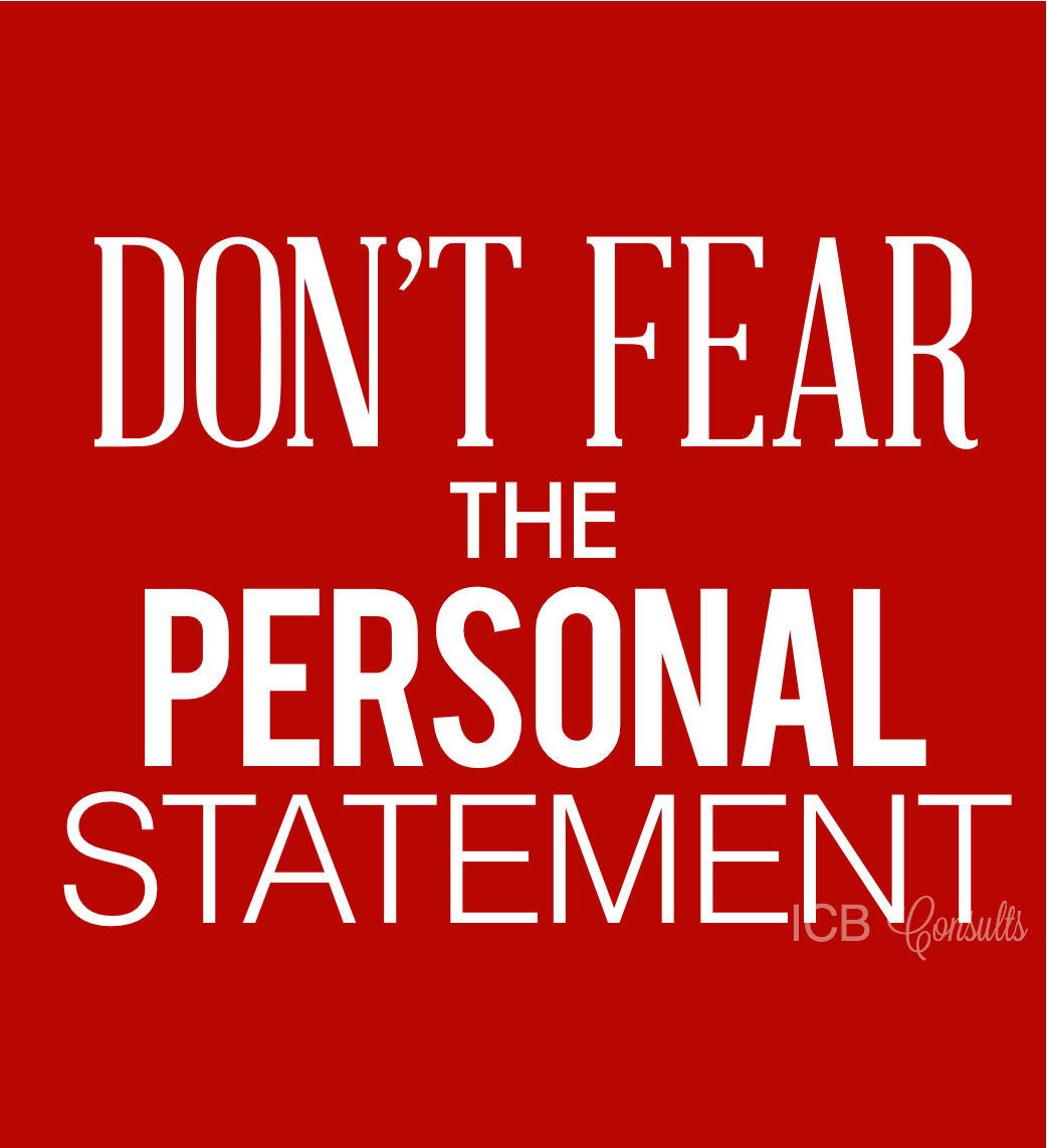 Dont fear the personal statement