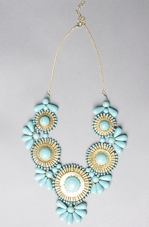 Zad Peacock Statement Bead Necklace