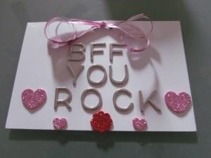 BFF You Rock DIY Card