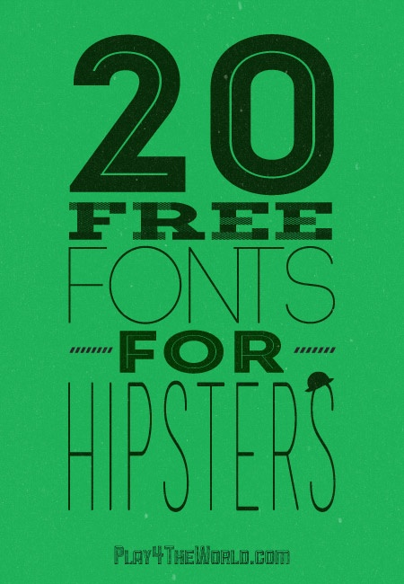 20 free fonts for hipsters