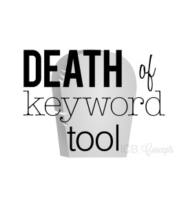 What is means for google to no longer offer the keyword tool