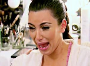 Kim Kardashain crying face