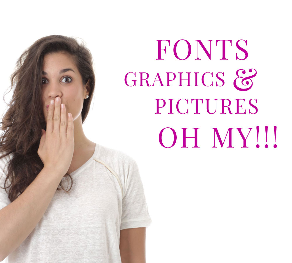 How to use graphics, fonts, and pictures for your small business needs.