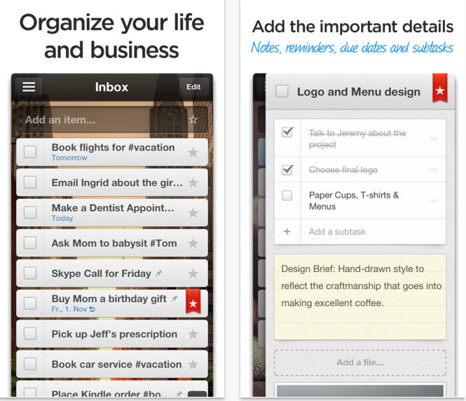 Wunderlist Productivity App
