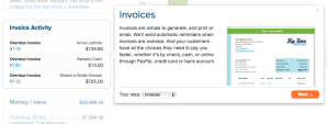 See how your invoices are with your small businesses on Outright