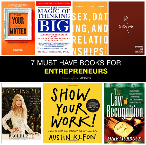 7 Must Have Books for Entrepreneurs