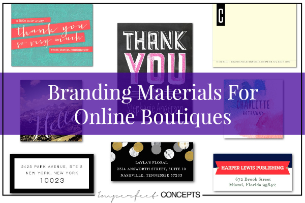 Branding Materials For Online Boutiques