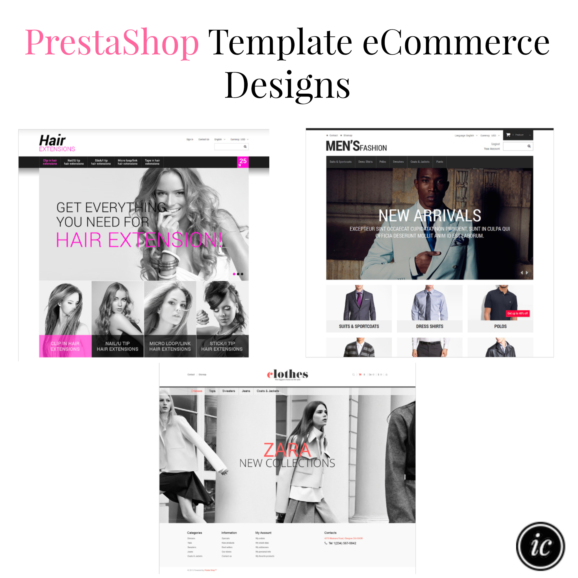 PrestaShop Template eCommerce Designs