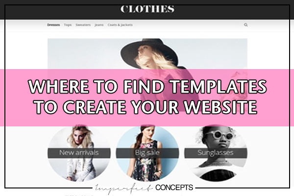 Where to find templates to create your website