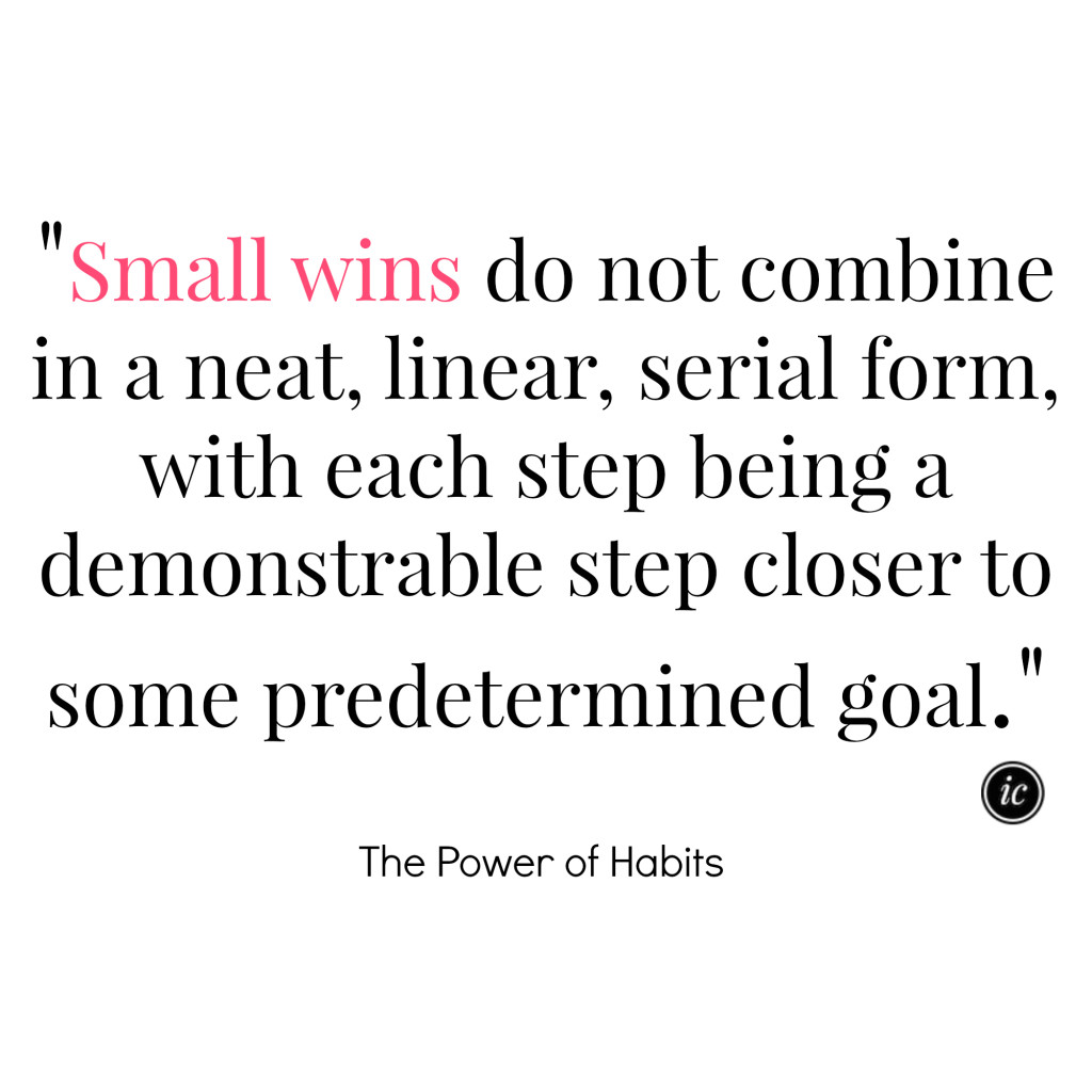 Alignment of Small Wins
