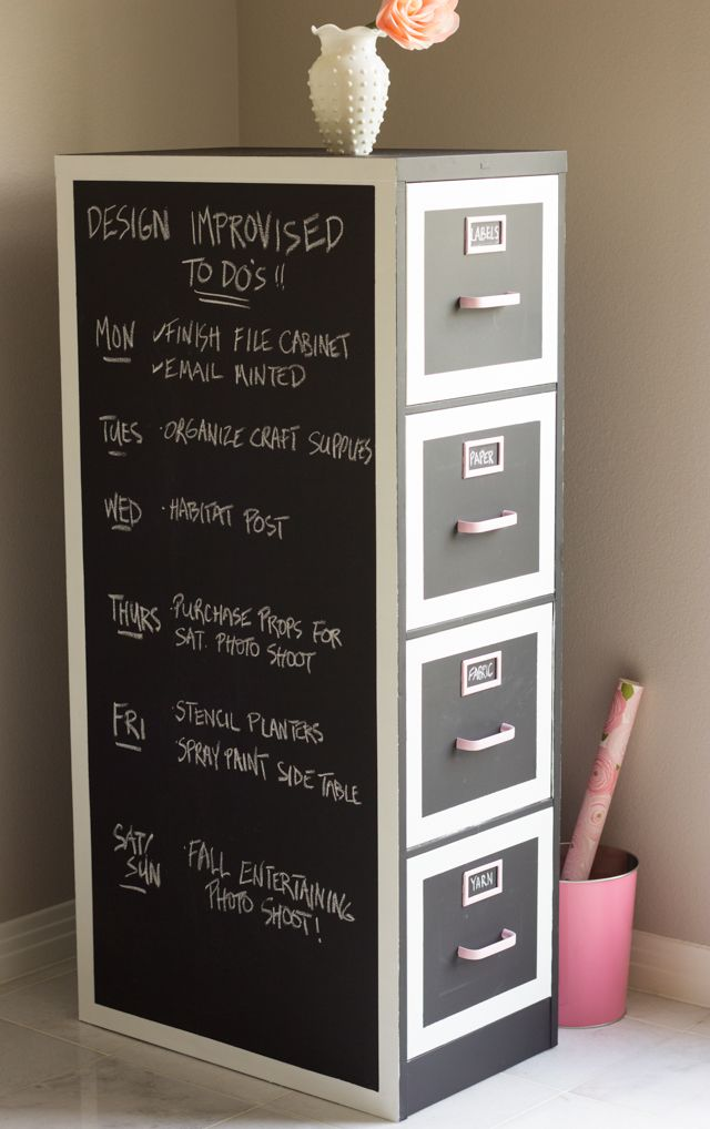 Chalk Board File Cabinet