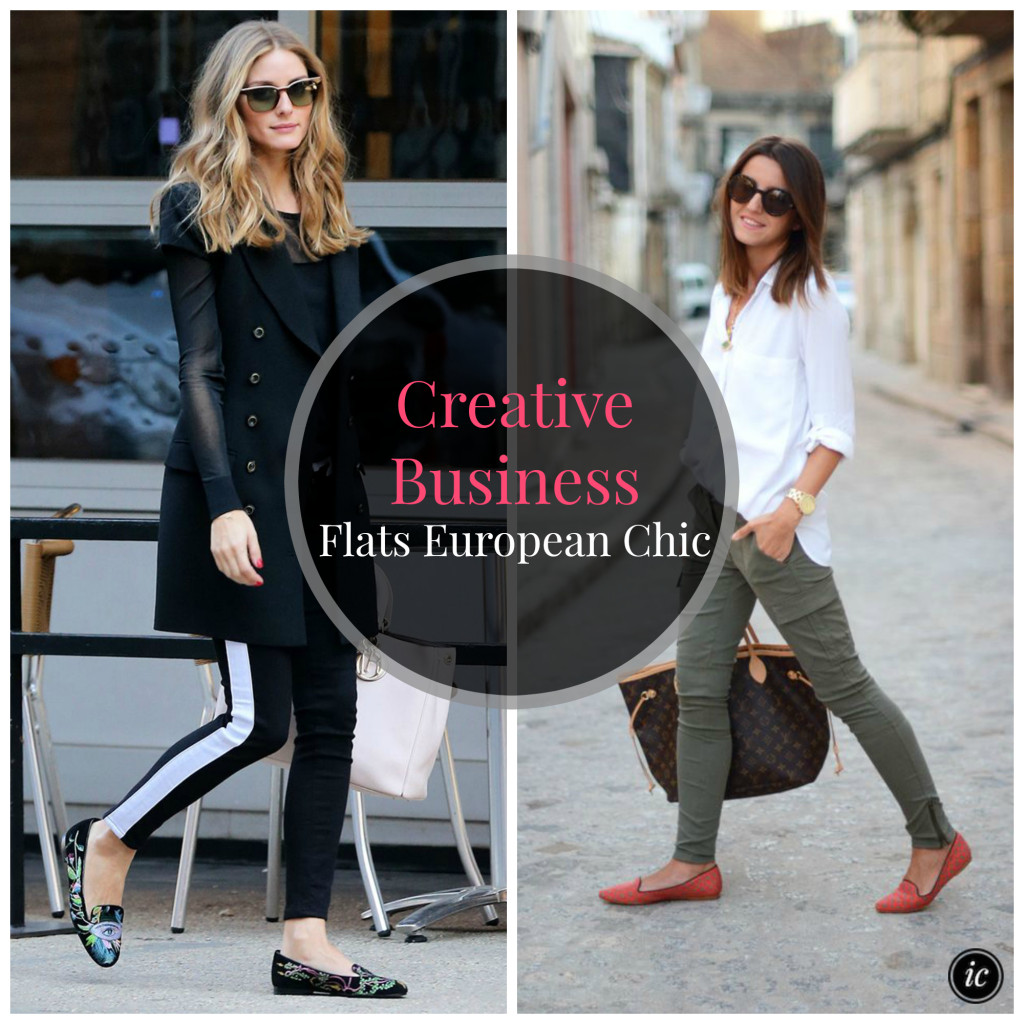 Creative Business Flats European Chic