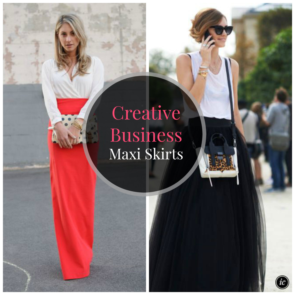 Creative Business Maxi Skirt