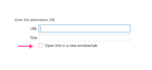 Open Link In A New Window