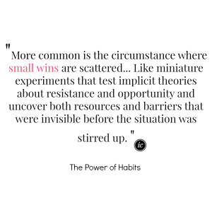 Small Wins Are Scattered