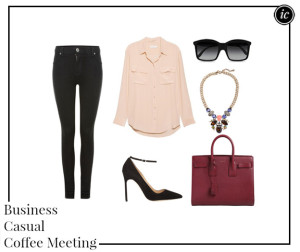 Business Casual Coffee Meeting