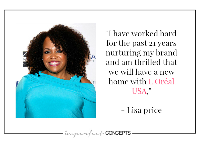 Lisa Price owner of Carols Daughter acquired by L'Oreal USA