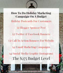 How To Do A Holiday Marketing Campaign On A $275 Budget