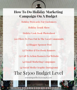 How To Do Holiday Marketing Campaign On A $1500 Budget #imperfectconcepts