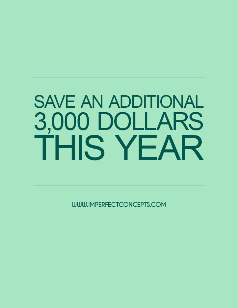 Save An Additional $3,000 Dollars This Year