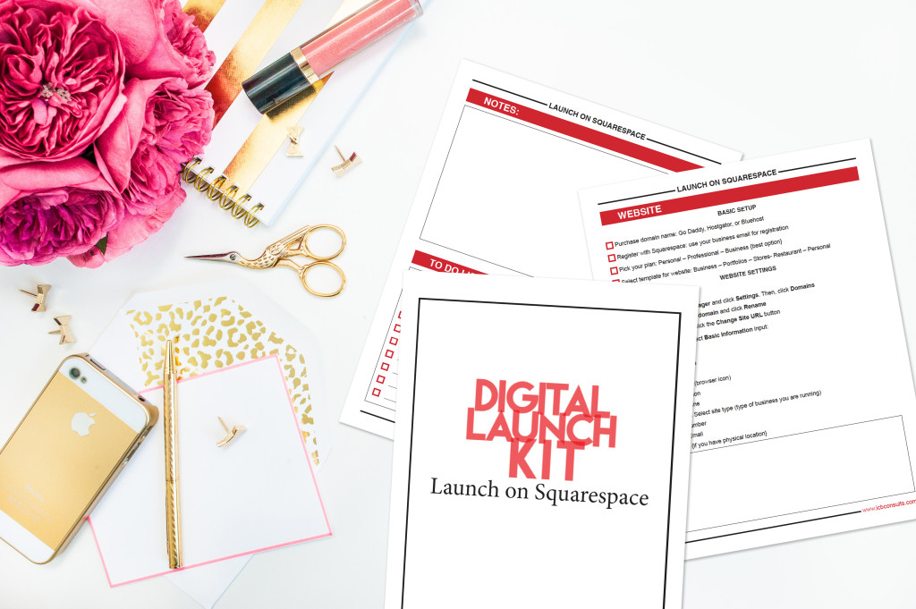 Digital Launch Kit: Launch on Squacespace