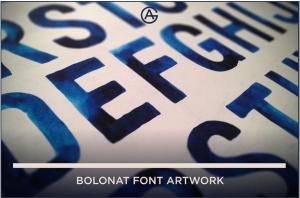 boloant font arrtwork