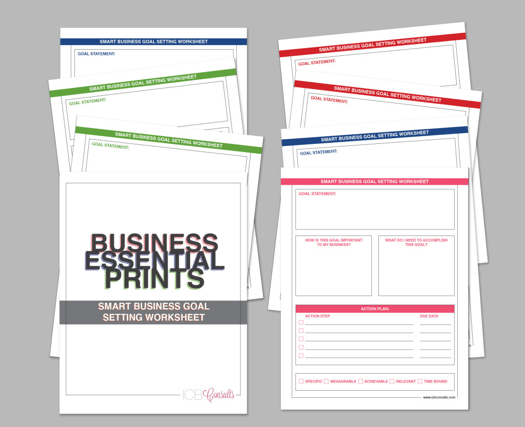 Business goal setting worksheet template