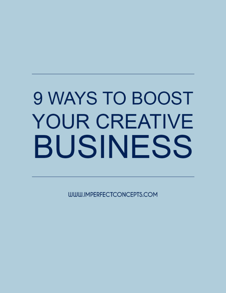 Sharing 9 Ways to Boost Your Creative Business in 2015