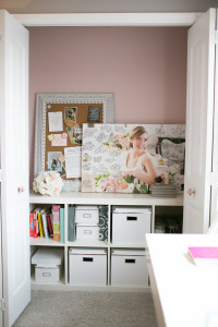 Learn how to maximize your home office space by utilizing closet space.