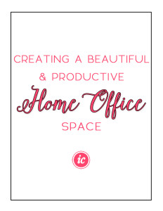 Creating a beautiful and productive home office space for creative business owner
