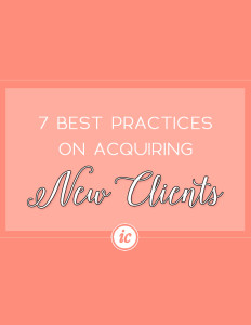 Seven great strategies to help you acquire new clients for your service based business