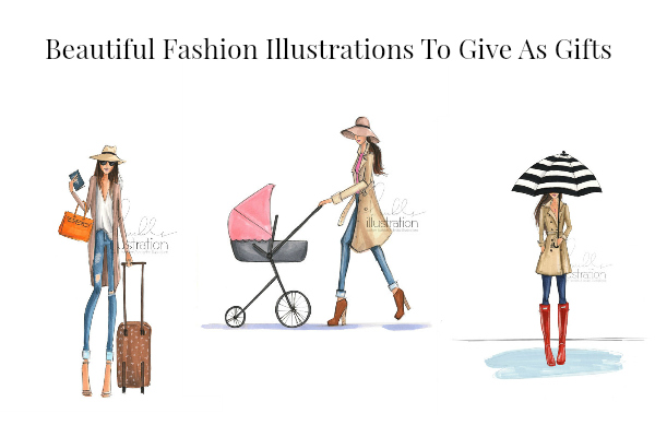 Beautiful fashion illustrations to give as a gifts.