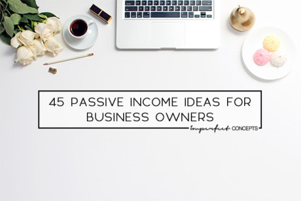 Breaking down passive income ideas for people in beauty, graphic design, wedding, and several business industries.