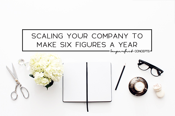 How I went from mid five figure income to six figure business within a year. | Imperfect Concepts #PassiveIncome #SmallBusiness