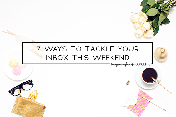 Purging, Sorting, Pausing are just some of the ways to tackle your business inbox. | Imperfect Concepts #Email #Inbox