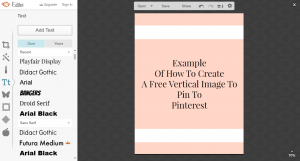 design a free graphic for pinterest. | Imperfect Concepts #SmallBusiness #Pinterest