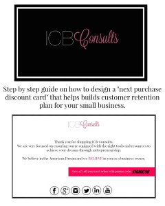 How to create a next purchase discount card for less than $30. | Imperfect Concepts #SmallBusiness #Graphic Design #creative