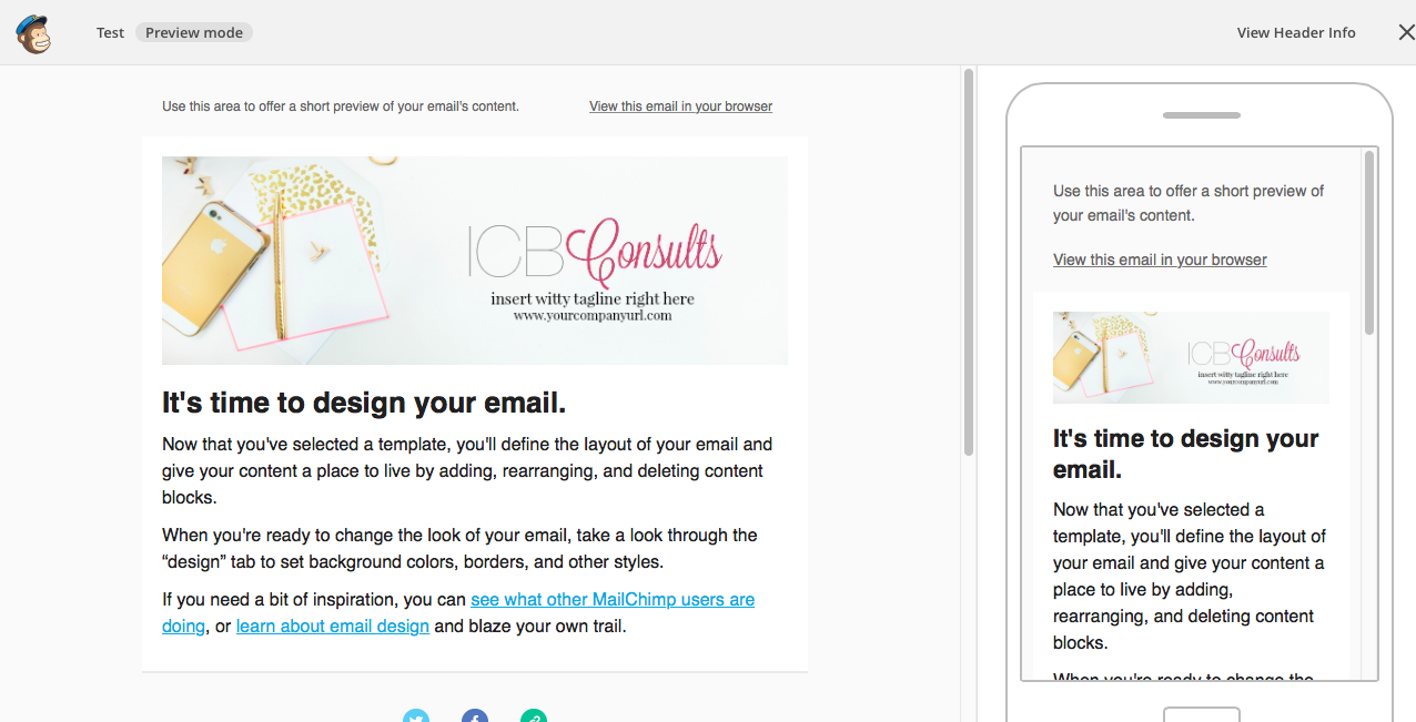 how to create mailchimp newsletter header imperfect concepts