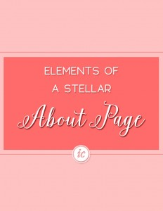 How to create a stellar about page for your small business website.   Imperfect Concepts #aboutpage #website #smallbusiness