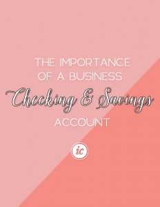Sharing the importance of small business owners having a business account for finances.   Imperfect Concepts #finances #blogging #smallbusiness
