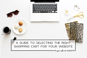 Learn what your future shopping cart needs in order for you to run a successful business. | Imperfect Concepts #shoppingcart #smallbusiness #blogging #ecommerce