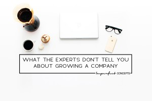 Sharing insider secrets the experts don't tell you about growing a company.   Imperfect Concepts #Smallbusiness #scaling #businessadvice