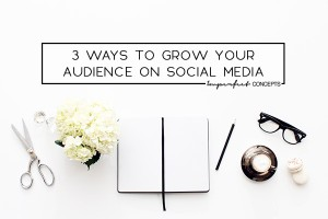Growing an honest and engaged audience on social media is a mixture of several parts and I am sharing some with you today.   Imperfect Concepts #socialmedia #blogging #smallbusiness