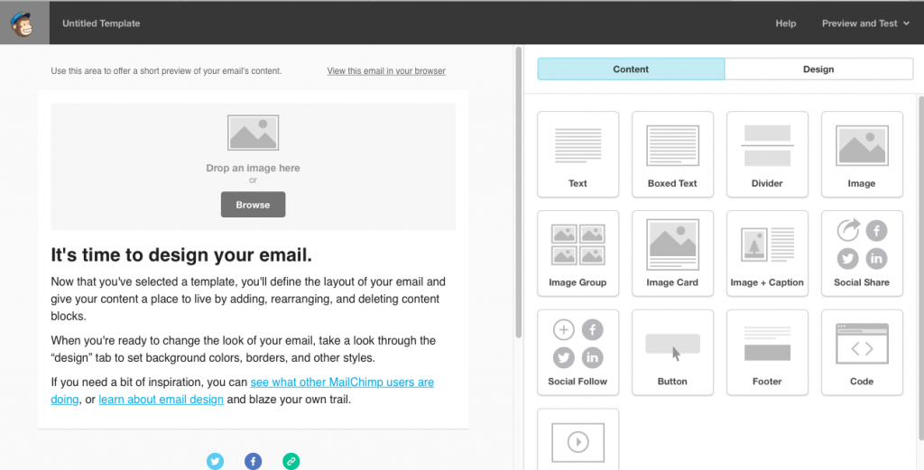 Main Page Mailchimp Template. | Imperfect Concepts #mailchimp #smallbusiness #newsletter