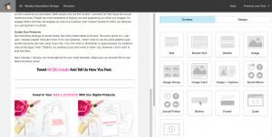 Tweet Me Mailchimp Template. | Imperfect Concepts #mailchimp #smallbusiness #newsletter #emailmarketing