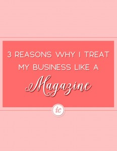 Sharing why I decided to treat my company as a magazine for business structure. | Imperfect Concepts #smallbusiness #magazine #businessadvice