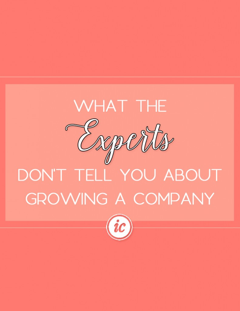 Sharing insider secrets the experts don't tell you about growing a company. | Imperfect Concepts #Smallbusiness #scaling #businessadvice