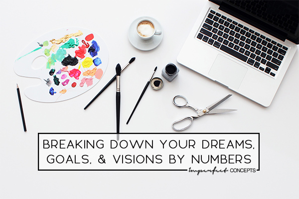 How you can turn your dreams into a full time business. Sharing an elaborate break down of the numbers to help you. | Imperfect Concepts #smallbusiness #blogging #entrepreneur