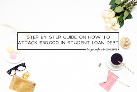 How to knock out $30,000 in debt within one year with going crazy. | Imperfect Concepts #studentloan #debt #money #management