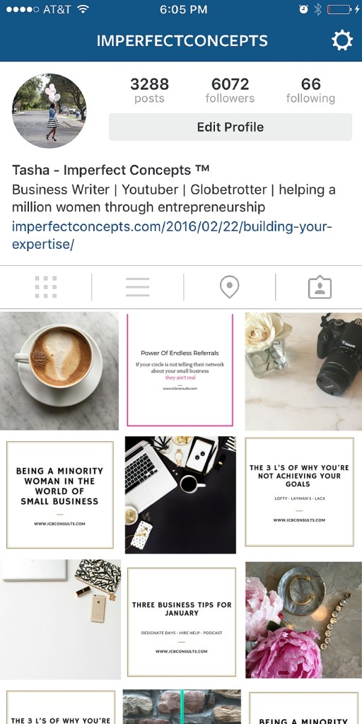 How to visually style your instagram feed if you're a service based company. | Imperfect Concepts #blogging #advice #servicecompany #business